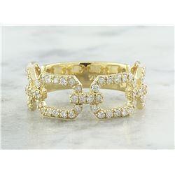 0.65 CTW Diamond 18K Yellow Gold Ring