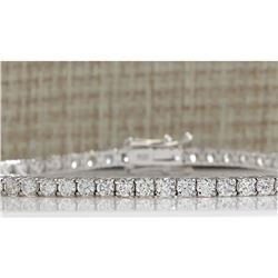 4.52 CTW Natural Diamond Bracelet In 18K Solid White Gold