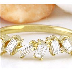 0.75 CTW Natural Diamond 18K Solid Yellow Gold Ring