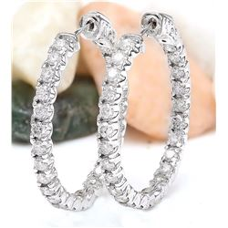 2.25 CTW Natural Diamond 18K Solid White Gold Earrings