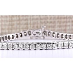 5.60 CTW Natural Diamond Bracelet In 14k White Gold