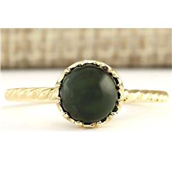 1.50 CTW Natural Green Tourmaline Ring In 18K Yellow Gold
