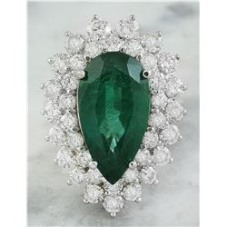 9.05 CTW Emerald 14K White Gold Diamond Ring