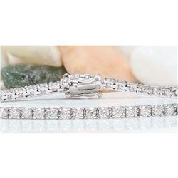 3.25 CTW Natural Diamond 18K Solid White Gold Bracelet