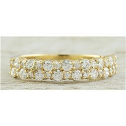 0.75 CTW 18K Yellow Gold Diamond Ring