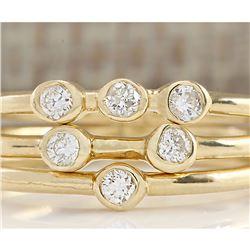 0.24 CTW Trio Diamond Ring In 14k Yellow Gold