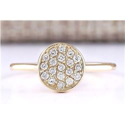 0.16 CTW Natural Diamond Ring 18K Solid Yellow Gold