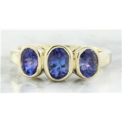 2.30 CTW Tanzanite 14K Yellow Gold Ring
