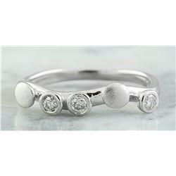0.20 CTW 18K White Gold Diamond Ring