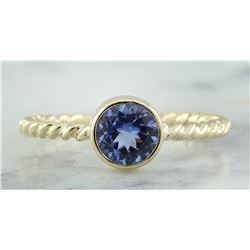 1.00 CTW Tanzanite 14K Yellow Gold Ring