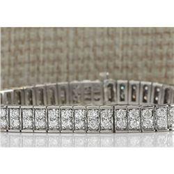 12 CTW Natural Diamond Bracelet In 14k Solid White Gold