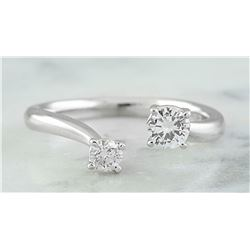 0.35 CTW 18K White Gold Diamond Ring