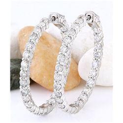 4.50 CTW Natural Diamond 14K Solid White Gold Earrings