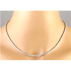 6.20 CTW Natural Diamond Necklace In 18K White Gold
