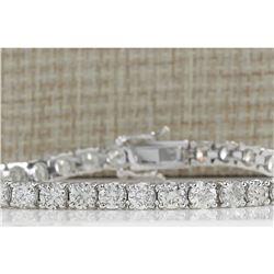 12.00 CTW Natural Diamond Bracelet In 14K Solid White Gold