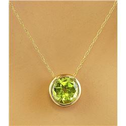 1.50 CTW Peridot 14K Yellow Gold Necklace