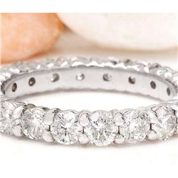 2.80 CTW Natural Diamond 18K Solid White Gold Ring