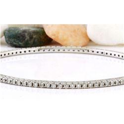 3.00 CTW Natural Diamond 18K Solid White Gold Bracelet