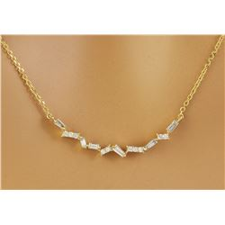 0.45 CTW Diamond 18K Yellow Gold  Necklace