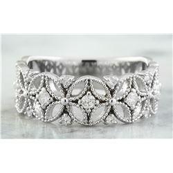 0.45 CTW 18K White Gold Diamond Ring