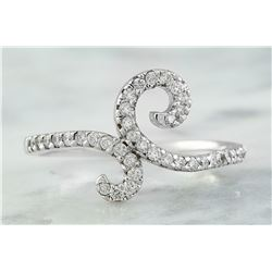 0.40 CTW 18K White Gold Diamond Ring
