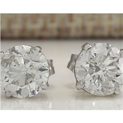 2.40 CTW Natural Diamond Earrings 14K Solid White Gold