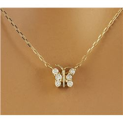 0.20 CTW Diamond 18K Yellow Gold Necklace