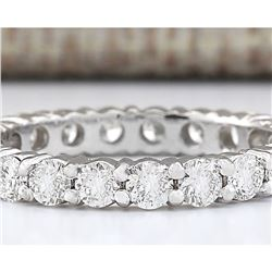 2.00 CTW Natural Diamond Ring In 18K White Gold