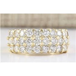 2.00 CTW Natural Diamond Ring In 18K Yellow Gold