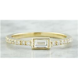 0.38 CTW Diamond 18K Yellow Gold ring