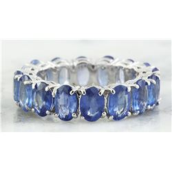 8.08 CTW Sapphire 18K White Gold Ring