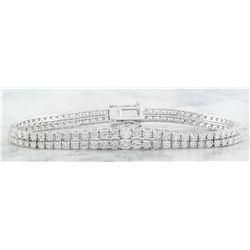 5.30 CTW Diamond 18K White Gold Bracelet