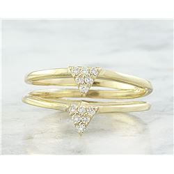 0.12 CTW Diamond 18K Yellow Gold Ring