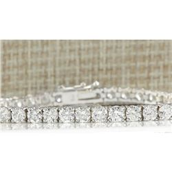 9.00 CTW Natural Diamond Bracelet In 18K White Gold