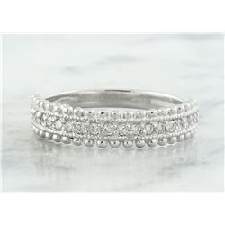 0.28 CTW Diamond 18K White Gold Ring
