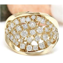 1.28 CTW Natural Diamond 18K Solid Yellow Gold Ring