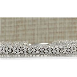 14.00 CTW Natural Diamond Bracelet In 14K Solid White Gold