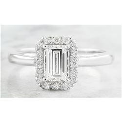 0.84 CTW Diamond 18K White Gold Ring