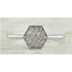 0.22 CTW 14K White Gold Diamond Ring