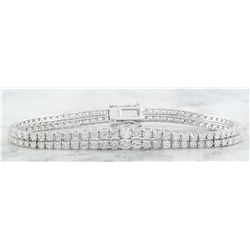 5.30 CTW Diamond 14K White Gold Bracelet