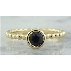 0.50 CTW Sapphire 18K Yellow Gold Ring