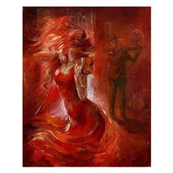 "Lena Sotskova, ""Imagination"" Hand Signed, Artist Embellished Limited Edition Giclee on Canvas with C"