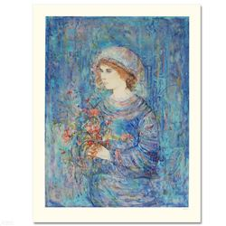 """""""Serene"""" Limited Edition Serigraph (32"""" x 41"""") by Edna Hibel (1917-2014), Numbered and Hand Signed w"""