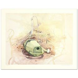 """William Nelson, """"Green Watering Can"""" Limited Edition Lithograph, Numbered and Hand Signed by the Art"""