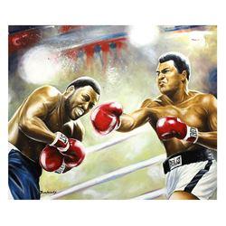 "Dimitry Turchinsky- Original Oil on Canvas ""Ali vs Frazier"""