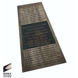 Future Man (TV) – Kronish Tower Memorial Plaque – FM214