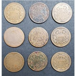 9-LESSER GRADE TWO CENT LOT