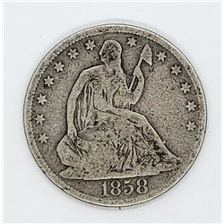 1858-O SEATED HALF DOLLAR