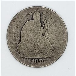 1876-S SEATED HALF DOLLAR