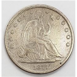 1877-S SEATED HALF DOLLAR